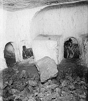 0130595 © Granger - Historical Picture ArchiveTOMBS OF THE SANHEDRIN.   The tombs of the Sanhedrin, rock cut tombs of the 1st century A.D., in Jerusalem. Photograph, early 20th century.