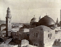 0184150 © Granger - Historical Picture ArchiveJERUSALEM: CHURCH.   A view of the Church of the Holy Sepulchre in Jerusalem. Photographed by Maison Bonfils, 1867-1899.