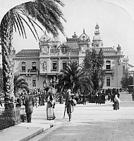 0126619 © Granger - Historical Picture ArchiveMONACO: MONTE CARLO, c1900.   The casino in Monte Carlo, Monaco. Stereograph, c1900.