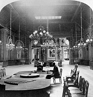 0126621 © Granger - Historical Picture ArchiveMONACO: MONTE CARLO, c1898.   The interior of the famous roulette salon at the Casino Monte Carlo, Monaco. Stereograph, c1898.