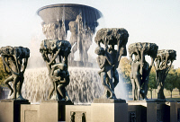 0055887 © Granger - Historical Picture ArchiveNORWAY: VIGELAND PARK.   'The Fountain with Tree Groups.' Bronze sculpture by Gustav Vigeland. In the Vigeland installation at Frogner Park in Oslo, Norway.