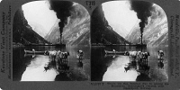 0326260 © Granger - Historical Picture ArchiveNORWAY: NAEROFJORD.   View near the village Gudvangen over the Naerofjord, Norway. Stereograph, early 20th century.