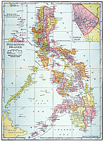 0065390 © Granger - Historical Picture ArchiveMAP: PHILIPPINES, 1905.   Map of the Philippine Islands printed in the United States in 1905.
