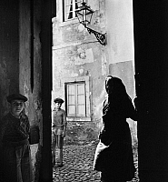 0118705 © Granger - Historical Picture ArchiveLISBON: STREET SCENE, c1945.   Scene on a medieval street in the Alfama district of Lisbon, Portugal. Photographed by Toni Frissell, c1945.