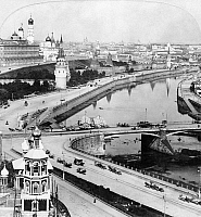 0123541 © Granger - Historical Picture ArchiveRUSSIA: MOSCOW, c1902.   View of Moscow, Russia, from the Cathedral of Christ the Savior. Stereograph, c1903.