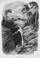 0049275 © Granger - Historical Picture ArchiveSCOTLAND: LINN OF DEE.   The Linn of Dee, a small gorge near Braemar in Aberdeenshire, Scotland. Wood engraving, 19th century.