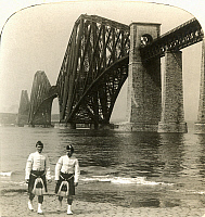 0068089 © Granger - Historical Picture ArchiveSCOTLAND: FORTH BRIDGE.   Spanning the Firth of Forth, Scotland: stereograph, 1902.