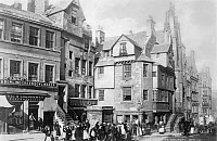 0077969 © Granger - Historical Picture ArchiveJOHN KNOX HOUSE, c1890.   View of the house of Protestant reformer John Knox in Edinburgh, Scotland. Photographed c1890.