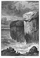 0094866 © Granger - Historical Picture ArchiveSCOTLAND: FINGAL'S CAVE.   View of Fingal's Cave on the island of Staffa in the Hebrides, off the coast of Scotland. Wood engraving, c1875, by Edward Whymper after R.P. Leitch.