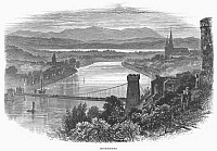 0094870 © Granger - Historical Picture ArchiveSCOTLAND: INVERNESS, c1875.   View of the city of Inverness, on the Moray Firth in the Scottish Highlands. Wood engraving, c1875.