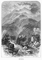 0094875 © Granger - Historical Picture ArchiveSCOTLAND: BEN VENUE.   View of Ben Venue in the Scottish Highlands. Wood engraving, c1875, by Edward Whymper after T.L. Rowbotham.