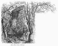0094882 © Granger - Historical Picture ArchiveSCOTLAND: JEDBURGH HOUSE.   View of the house in Jedburgh, in the border region of southeastern Scotland, where Mary Queen of Scots resided in 1566. Wood engraving, c1875, by Edward Whymper after Harry Fenn.