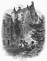 0094883 © Granger - Historical Picture ArchiveSCOTLAND: CASTLE.   View of Ferniehurst Castle, in the border region of southeastern Scotland. Wood engraving, c1875.