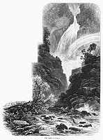 0094892 © Granger - Historical Picture ArchiveSCOTLAND: FALLS OF FOYERS.   View of the Falls of Foyers in the Scottish Highlands. Wood engraving, c1875.