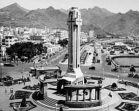 0260167 © Granger - Historical Picture ArchiveCANARY ISLANDS: PLAZA.   The Plaza de Espana at Santa Cruz de Tenerife in the Canary Islands, Spain. Photograph, mid 20th century.