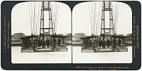 0323573 © Granger - Historical Picture ArchiveSPAIN: PORTUGALETTE, c1908.   'The flying ferry over the Nervion River, Portugalete, Spain.' Stereograph, c1908.
