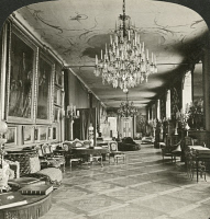 0326157 © Granger - Historical Picture ArchiveSTOCKHOLM: ROYAL PALACE.   The art gallery at the Royal Palace in Stockholm, Sweden. Stereograph, c1892.