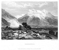 0047305 © Granger - Historical Picture ArchiveSWITZERLAND: GRINDENWALD.   Steel engraving, English, 1833, by Edward Finden after a drawing by J.S. Cooper.