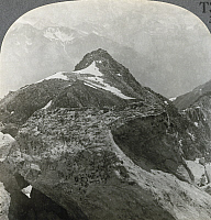 0323543 © Granger - Historical Picture ArchiveSWITZERLAND: RHONE VALLEY.   'Looking S. from the Eggishorn over Rhone Valley to Monte Leone and the Fletschorn, Switzerland.' Stereograph, early 20th century.