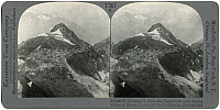 0323544 © Granger - Historical Picture ArchiveSWITZERLAND: RHONE VALLEY.   'Looking S. from the Eggishorn over Rhone Valley to Monte Leone and the Fletschorn, Switzerland.' Stereograph, early 20th century.