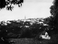 0351683 © Granger - Historical Picture ArchiveTAHITI: PAPEETE, c1910.   A hill overlooking Papeete, Tahiti in French Polynesia. Photograph by Lucien Gauthier, c1910.