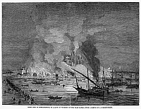0095380 © Granger - Historical Picture ArchiveCONSTANTINOPLE: FIRE, 1848.   'Great Fire at Constantinople on August 16 - Burning of the Yagh Kapan.' Wood engraving from an English newspaper of 1848.