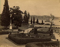 0124674 © Granger - Historical Picture ArchiveTURKEY: TOPKAPI PALACE.   View of the garden at Topkapi Palace, Istanbul, Turkey. Photograph, late 19th century.