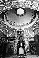 0125773 © Granger - Historical Picture ArchiveTURKEY: TOPKAPI PALACE.   The Hall of the Ablution Fountain at the Topkapi Palace in Istanbul, Turkey, decorated with 17th century tile patterns. Photograph, c1960.