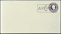 0053990 © Granger - Historical Picture ArchiveU.S. POSTAGE STAMP, 1945.   United States 1945 6 cent Airmail Surcharge error on 3 cent stamped envelope.
