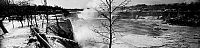 0117809 © Granger - Historical Picture ArchiveNIAGARA FALLS, c1914.   A panoramic view of Niagara Falls from Hennepin Point during the winter, Niagara Falls, New York. Photograph, c1914.