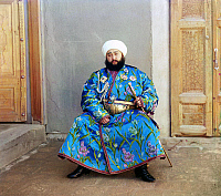 0122018 © Granger - Historical Picture ArchiveMOHAMMED ALIM KHAN   (1880-1944). Last emir of Bukhara, 1911-1920.  Photograph by Sergei Mikhailovich Prokudin-Gorskii, 1911.