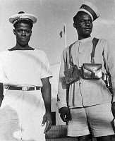 0167593 © Granger - Historical Picture ArchiveWORLD WAR II: LIBYA.   Members of the Free French Naval Force (left) and the Free French Army, in Libya. Photograph, c1942.
