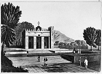 0260309 © Granger - Historical Picture ArchiveABYSSINIA: TEMPLE.   Temple Abba os Guba in Abyssinia (present-day Ethiopia), from 'Il Costume Antico e Moderno,' by Giulio Ferrario, c1830.