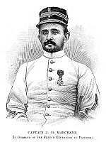 0266307 © Granger - Historical Picture ArchiveFASHODA INCIDENT, 1898.   Captain Jean-Baptiste Marchand, French soldier and explorer. Leader of a French expedition to Fashoda, Egypt, in a failed attempt to force Britain out of Egypt. Engraving, English, 1898.