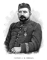 0266309 © Granger - Historical Picture ArchiveFASHODA INCIDENT, 1898.   Captain Marcel Joseph Germain, a leader of a French expedition to Fashoda, Egypt, in a failed attempt to force Britain out of Egypt. Engraving, English, 1898.