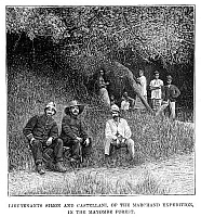 0266311 © Granger - Historical Picture ArchiveFASHODA INCIDENT, 1898.   Journalist Charles Castellani and Lieutenant Simon in the Mayombe Forest, during the French expedition led by Jean-Baptiste Marchand to Fashoda, Egypt, in a failed attempt to force Britain out of Egypt. Engraving, English, 1898.