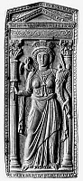 0115667 © Granger - Historical Picture ArchiveBYZANTINE EMPIRE.   Personification of Constantinople. Ivory diptych panel, Byzantine, carved in Constantinople, 5th century.