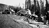 0118723 © Granger - Historical Picture ArchiveCANADA: ALASKA HIGHWAY.   The construction of the Alaska Highway, under the direction of the U.S. Army, in northern British Columbia and the Yukon Territory in western Canada, c1942.