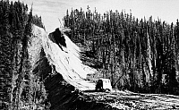 0118726 © Granger - Historical Picture ArchiveCANADA: ALASKA HIGHWAY.   View along the Alaska Highway, in northern British Columbia and the Yukon Territory in western Canada, at the time of its construction, under the direction of the U.S. Army, c1942-43.