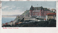 0323809 © Granger - Historical Picture ArchiveQUEBEC: CHATEAU FRONTENAC.   View of the Chateau Frontenac hotel in Quebec City. Canadian postcard, early 20th century.