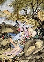 0022724 © Granger - Historical Picture ArchiveCHINA: ART, EROTICA.   Detail from Sou Nu King, Chinese Taoist treatise on sexual initiation, c4th century A.D.