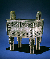 0105222 © Granger - Historical Picture ArchiveCHINA: BRONZE BASIN.   Bronze 'fang ding' vessel, 11th century B.C.