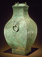 0105449 © Granger - Historical Picture ArchiveCHINA: BRONZE VESSEL.   Bronze 'fang hu' wine vessel. Late Eastern Zhou, 4th century B.C.
