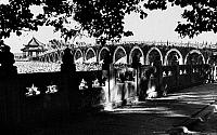 0110118 © Granger - Historical Picture ArchiveBEIJING: 17-ARCH BRIDGE.   17-Arch bridge at the Summer Palace in Beijing. Photographed c1920.