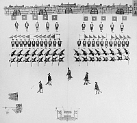0121016 © Granger - Historical Picture ArchiveCHINA: ARMY DRILLS, c1900.   Troops of the Chinese imperial army in a ceremonial formation. Illustration, c1900.