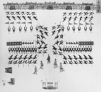 0121018 © Granger - Historical Picture ArchiveCHINA: ARMY DRILLS, c1900.   Troops of the Chinese imperial army in a ceremonial formation. Illustration, c1900.