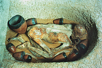 0018927 © Granger - Historical Picture ArchiveEGYPT: BURIAL.  Egyptian predynastic burial. Before 3100 B.C.