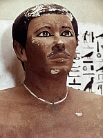 0024528 © Granger - Historical Picture ArchiveEGYPT: PRINCE RAHOTEP.   Painted limestone head of Prince Rahotep, son of King Snefru, 4th Dynasty.