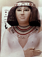 0024529 © Granger - Historical Picture ArchiveEGYPT: PRINCESS NOFRET.   Painted limestone head of Princess Nofret, 4th Dynasty.