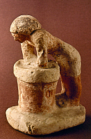 0024760 © Granger - Historical Picture ArchiveEGYPTIAN LIMESTONE FIGURE.   An Egyptian brewer mixing a pot of beer. Limestone, c2100 B.C.